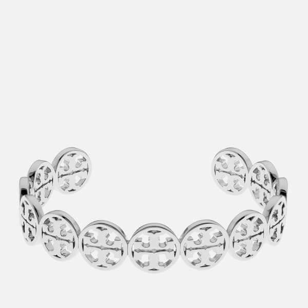 Tory Burch Women's Logo Cuff Bracelet - Silver