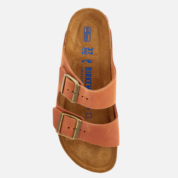 ceba2c125 Birkenstock Women s Arizona Slim Fit Nubuck Double Strap Sandals - Steer  Curry  Image 3
