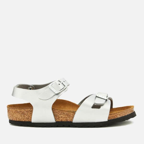 Birkenstock Kids' Rio Double Strap Sandals - Silver