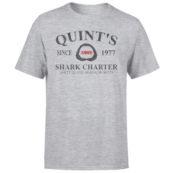 Jaws Quint's Shark Charter T-Shirt - Grey