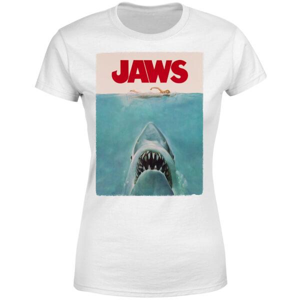 Jaws Classic Poster Women's T-Shirt - White