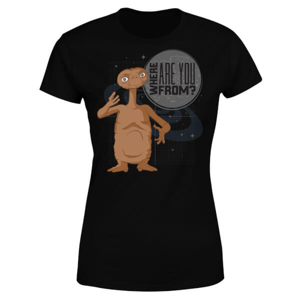 ET Where Are You From Women's T-Shirt - Black