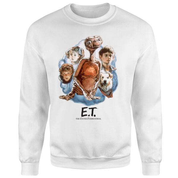 ET Painted Portrait Sweatshirt - White