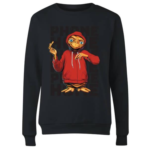 ET Phone Home Stylised Women's Sweatshirt - Black