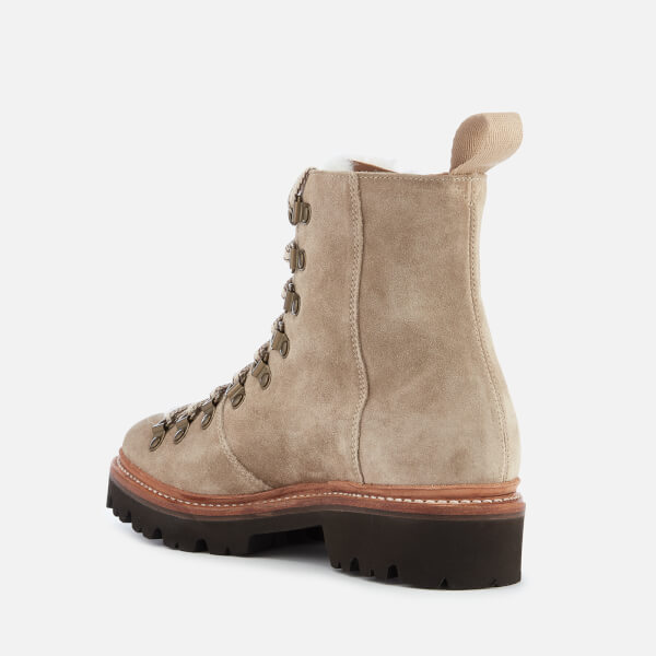 38d9b0f59117 Grenson Women s Nanette Suede Hiking Lace Up Boots - Maple  Image 2