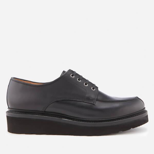 1638fda80d9c9 Grenson Men s Barnett Pull Up Leather Shoes - Black  Image 1
