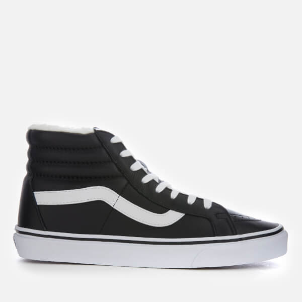 12a91fa46c9e11 Vans Men s Sk8-Hi Reissue Leather Fleece Trainers - Black True White ...