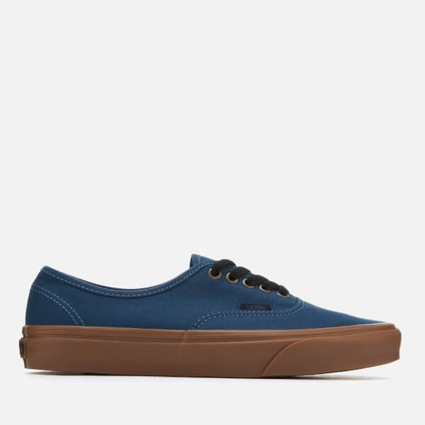 df2bfa9798fd78 Vans Men s Authentic Gum Sole Trainers - Dark Denim Black  Image 1