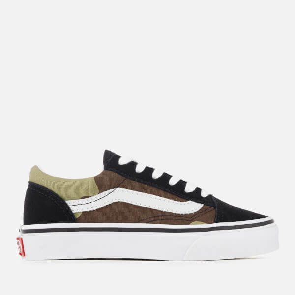 Vans Kids' Old Skool Woodland Camo Trainers - Black/Woodland