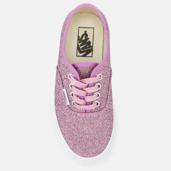 bc2404d81f Vans Kids  Authentic Lurex Glitter Trainers - Pink True White  Image 3