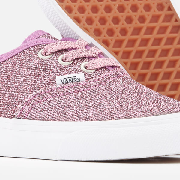 283b965969 Vans Toddlers  Authentic Lurex Glitter Trainers - Pink True White  Image 4