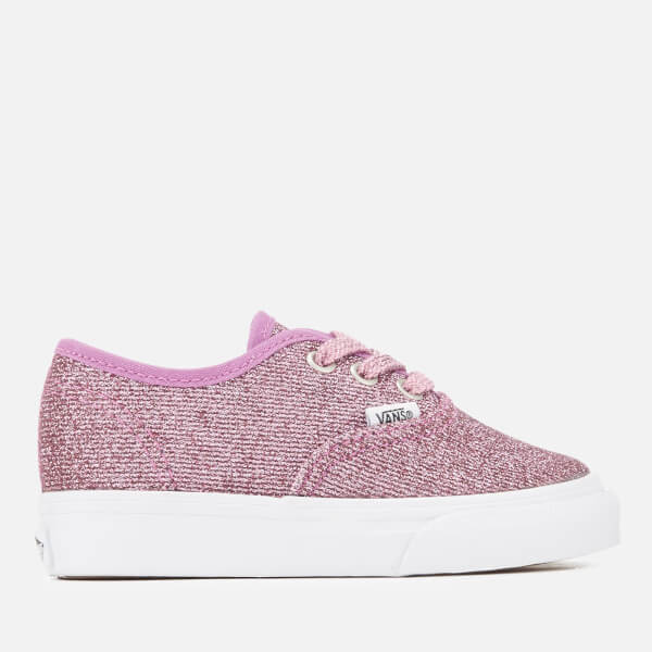 Vans Toddlers' Authentic Lurex Glitter Trainers - Pink/True White