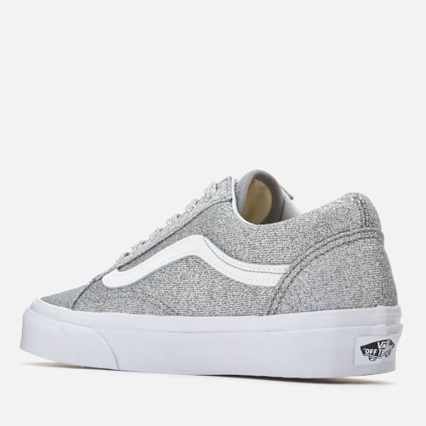c836f72c7fa0 Vans Women s Old Skool Lurex Glitter Trainers - Silver True White  Image 2