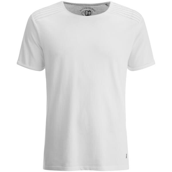 Ringspun Men's Snatch Ribbed Shoulder T-Shirt - White