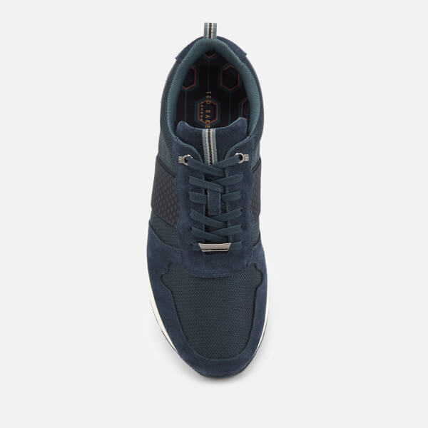 b624cf489a59c Ted Baker Men s Hebey Runner Style Trainers - Dark Blue Mens ...
