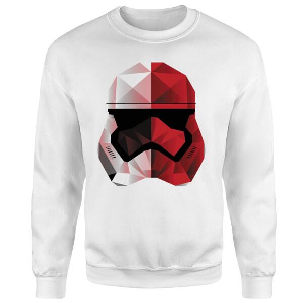 Star Wars Cubist Trooper Helmet White Sweatshirt - White