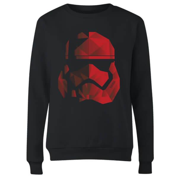 Star Wars Jedi Cubist Trooper Helmet Black Women's Sweatshirt - Black