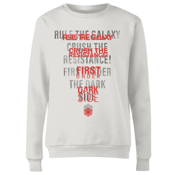 Star Wars Dark Side Echo White Women's Sweatshirt - White