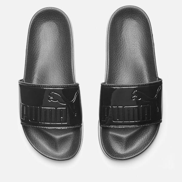 Puma Women s Leadcat Patent Slide Sandals - Puma Black Womens ... 25644b146