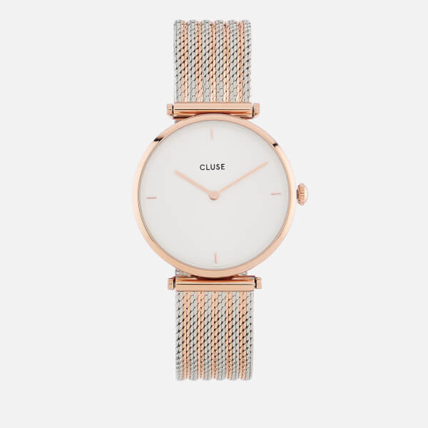 Cluse Women's Mixed Mesh Watch   Gold/Silver by My Bag