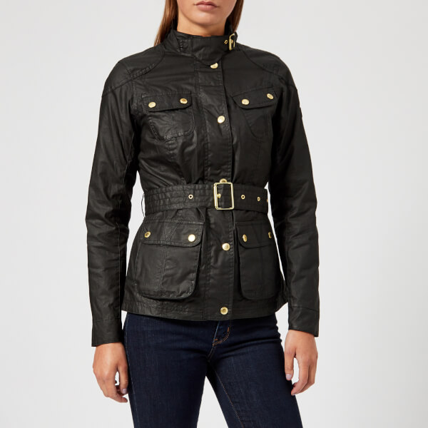 Barbour International Women s International Anglesey Wax Jacket - Black 7963d9421ad7