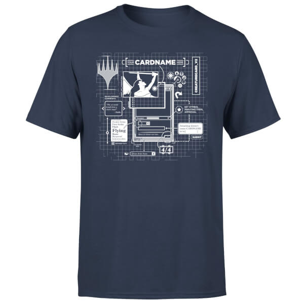 Magic The Gathering Card Grid T Shirt Navy Merchandise