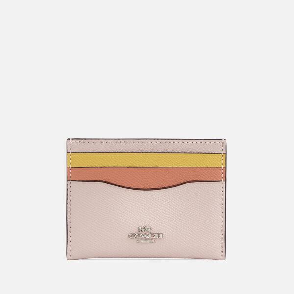 Coach Women's Flat Card Case - Ice Pink Multi