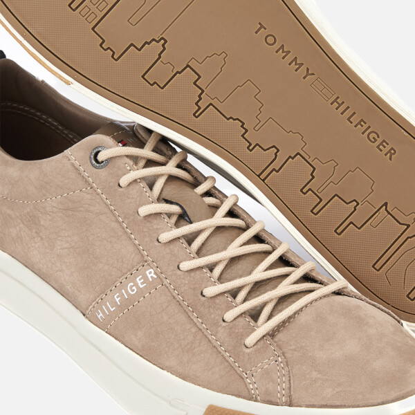 942199b4344fd Tommy Hilfiger Men s Nubuck Derby Trainers - Taupe Grey Mens ...