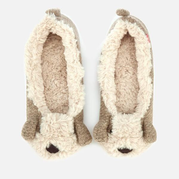 Joules Women's Ballet Pup Slippers - Oat