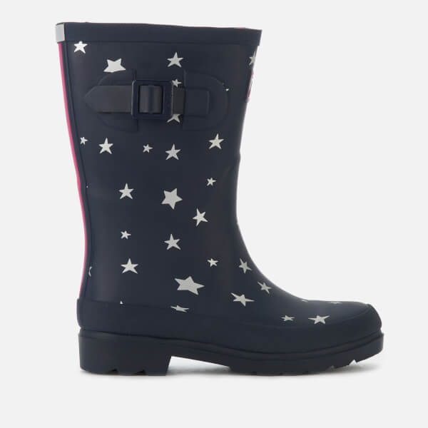 Joules Kids' Printed Wellies - French Navy Falling Star