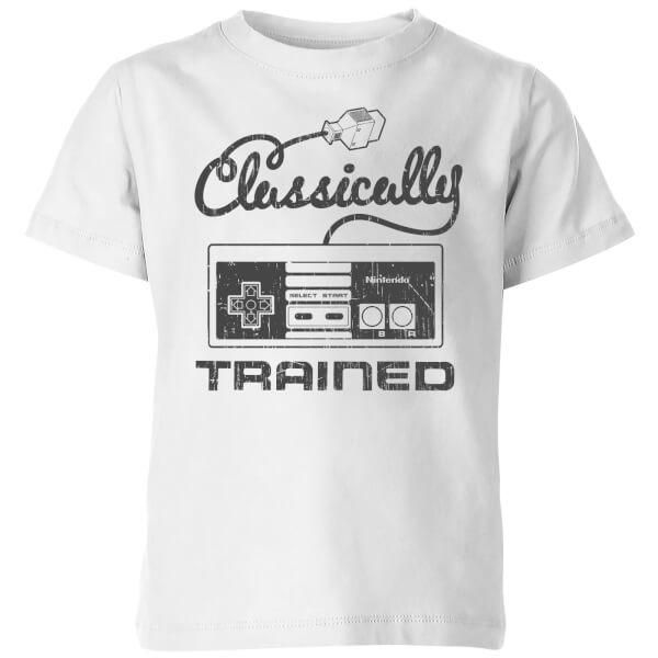Nintendo Retro Classically Trained Kids' T-Shirt - White