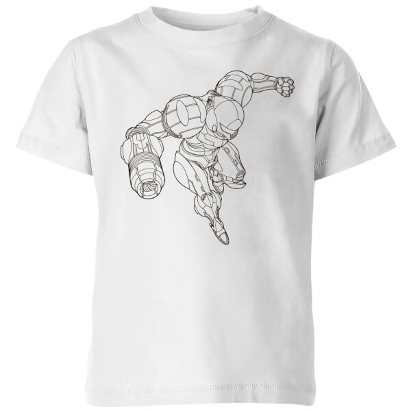 Nintendo Super Metroid Samus Kids' T-Shirt - White