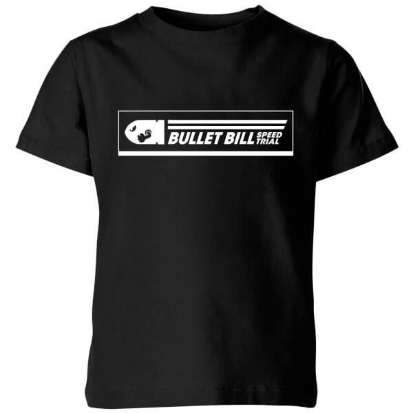 Nintendo Super Mario Bullet Bill Speed Trial Kids' T-Shirt - Black