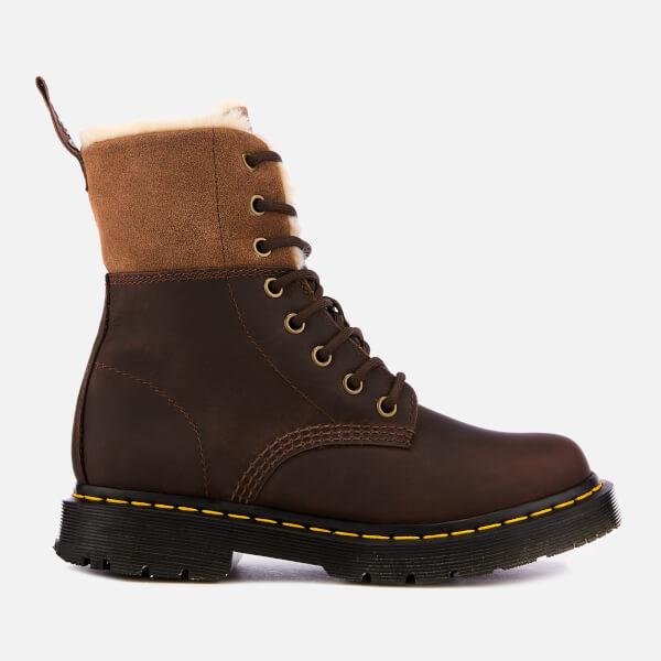 Dr. Martens Women's 1460 Kolbert Waterproof Leather 8-Eye Boots - Dark Brown