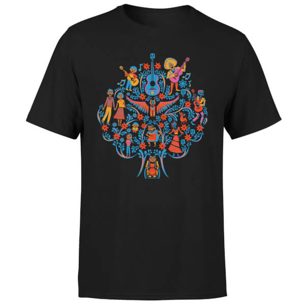 Coco Tree Pattern Men's T-Shirt - Black