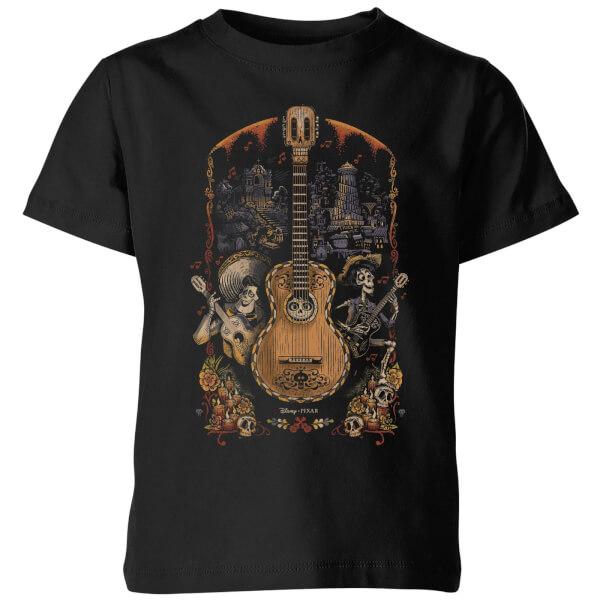 Coco Guitar Poster Kids' T-Shirt - Black