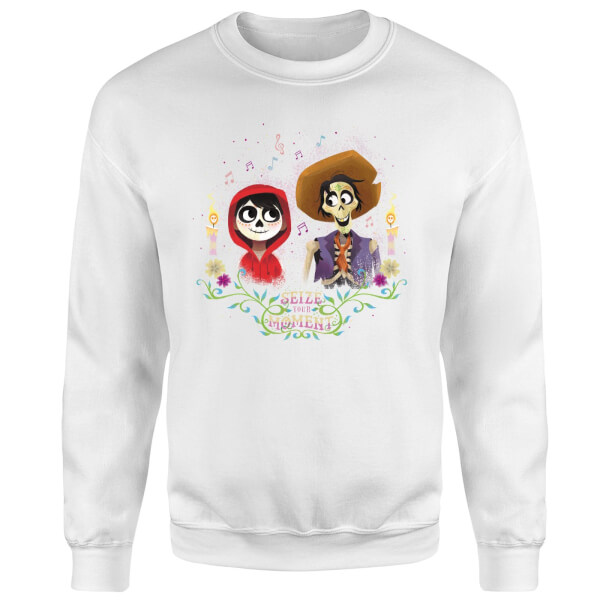 Coco Miguel And Hector Sweatshirt - White