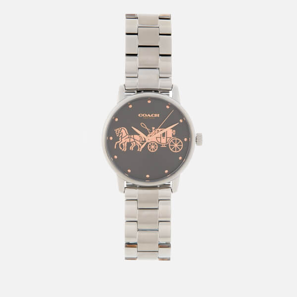 Coach Women's Grand Classic Logo Watch - Gun Metal