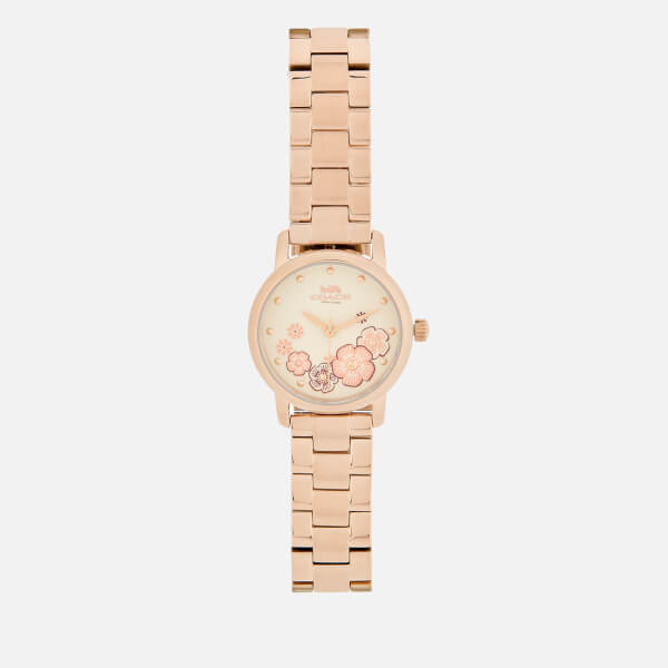 Coach Women's Grand Floral Watch - Rose Gold
