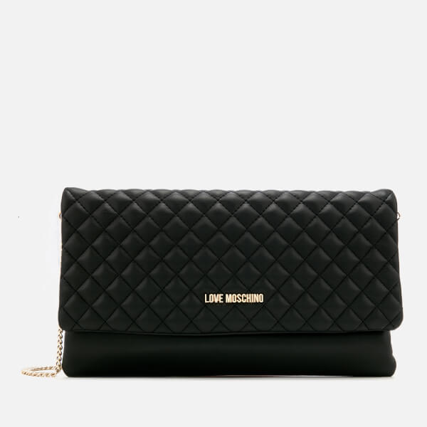 0b1d3565d0 Love Moschino Women s Small Quilted Cross Body Bag - Black Womens ...