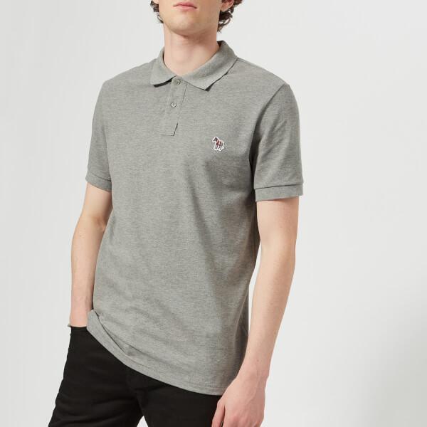 PS Paul Smith Men's Regular Fit Zebra Polo Shirt - Melange Grey