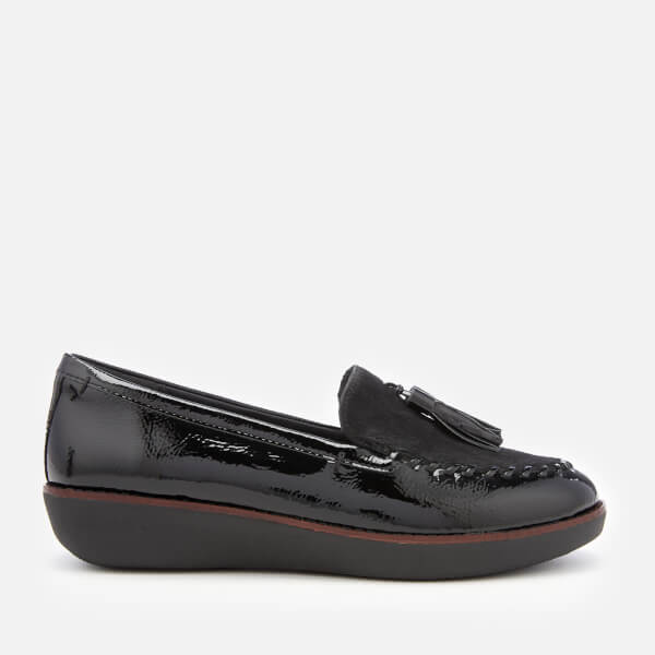 a86d99dce9a FitFlop Women s Paige Moccasin Loafers - Black  Image 1