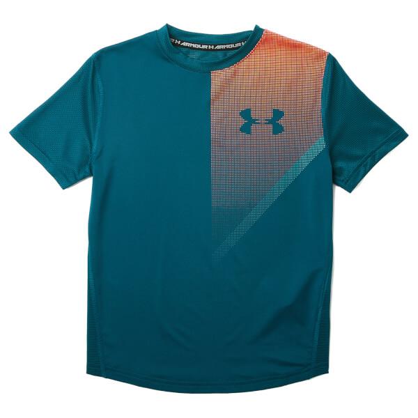 Under Armour Boys' Short Sleeve Raid T-Shirt - Techno Teal