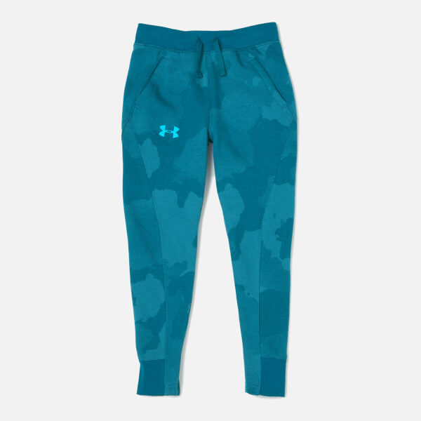 Under Armour Boys' Rival Printed Joggers - Techno Teal