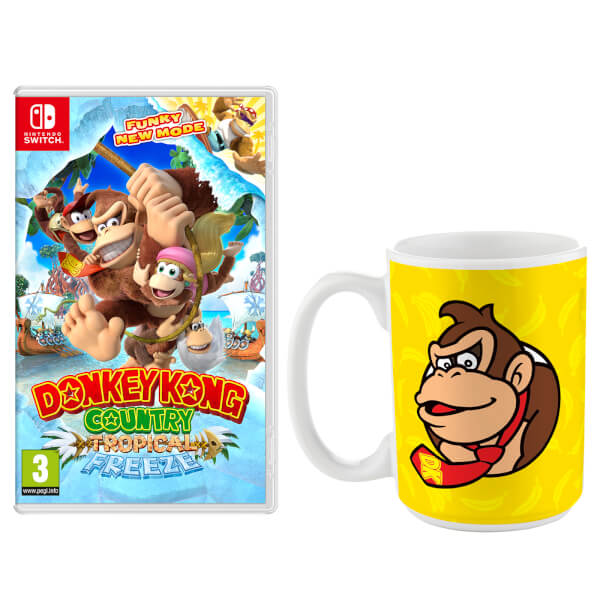 donkey kong country tropical freeze donkey kong tall mug