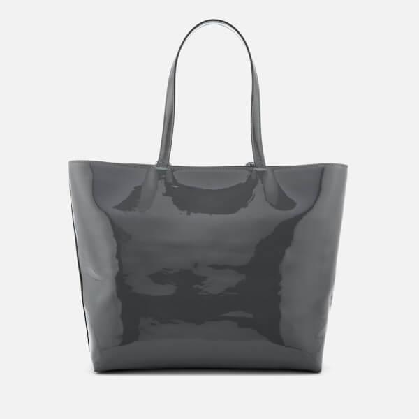 ad81e776e4cb Armani Exchange Women s Patent Logo Tote Bag - Grey  Image 2