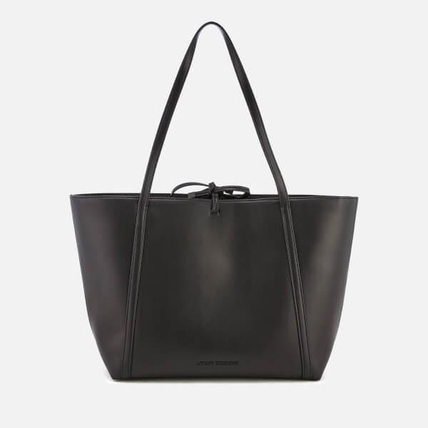 4df7ce379bb Armani Exchange Women s Nappa Look Tote Bag - Black Womens ...