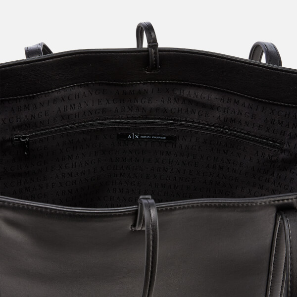 6004cf729f0 Armani Exchange Women s Nappa Look Tote Bag - Black  Image 5