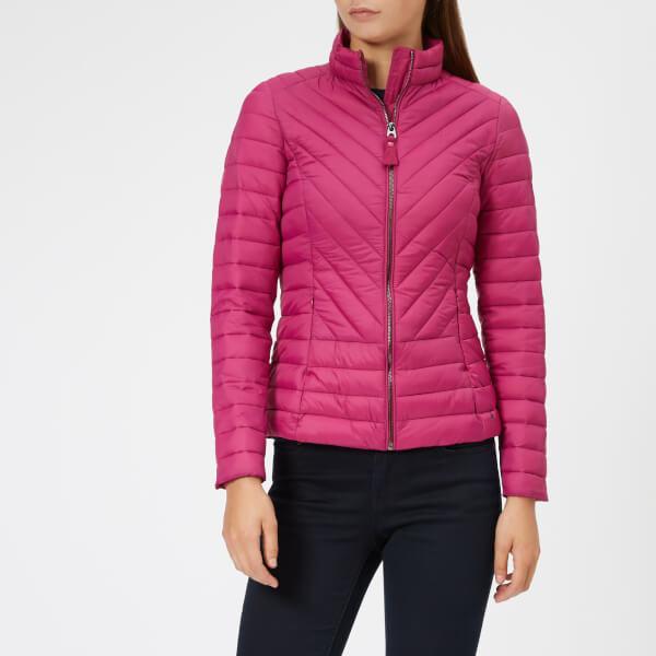 Joules Women's Elodie Chevron Quilted Jacket - Deep Fuchsia