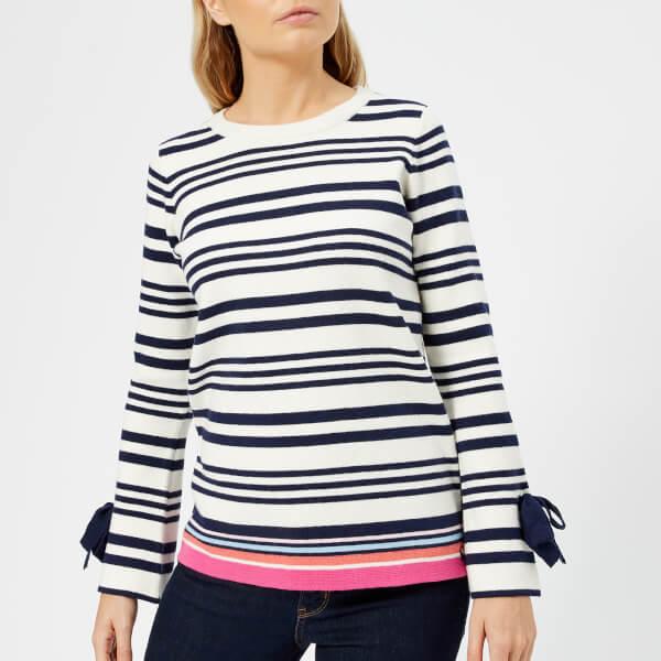 Joules Women's Myanna Tie Sleeve Jumper - Bircham Stripe